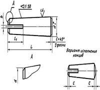 Штифт конический разводной имеет общемашиностроительное применение и производится диаметром от 5 до