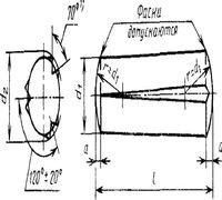Штифт ГОСТ 10773-93 цилиндрический насеченный с тремя коническими насечками применяется для неподви