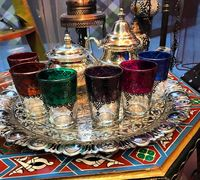 Традиционные марокканские стаканчики для чая и кофе с ручной росписью и разных цветов. Набор состоит...