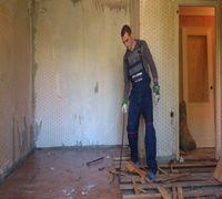 Демонтаж :полов, стен, потолков, дверей, окон, крыш, перегородок, ниш, коробов. Снятие обоев, побелк...