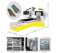 Профильный станок PLC-1600 для нанесения профиля на детали из природного и искусственного камня в ав...