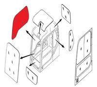 Продаем Стекло кабины правое (триплекс) 903-00072A  DOOSAN / DAEWOO DX140-DX520 серия DX