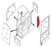Продаем Стекло кабины левое за дверью (триплекс) 4651657  HITACHI серия ZAXIS-3
