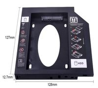 CHIPAL Универсальный SATA 3,0 2nd HDD Caddy 12,7 мм для 2,5 2 ТБ SSD HD Жесткий диск чехол Корпус дл...