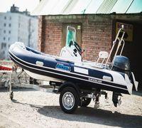 Лодка РИБ Stormline Extra 430 изготовлена по заказу группы компании Globaldrive с использованием мат...