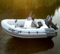 Лодка РИБ Stormline Luxe 420 изготовлена по заказу группы компании Globaldrive с использованием мат...