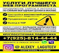 Доброго дня! Меня зовут Алексей Лагутеев!  Я, известный в Москве, Web — программист!  Занимаюсь про...