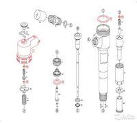 Форсунка 0445110291 восстановленная. Форсунка для двигателя, установленного на технике BAW Экологич...