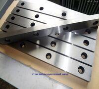 Ножи для рубки листовой стали 520х75х25мм комплект 8 штук для гильотин сталь 6хс,6хв2с, х12мф в Мос...
