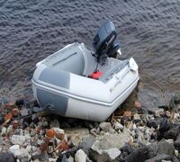 Лодка Badger Fishing Line 270 ― трёхместная надувная лодка ПВХ с жёстким поперечным транцем; надувн...