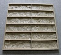 Тип: профессиональная форма Материал: PVP Назначение: литье декоративного камня Размер камня: 21 х