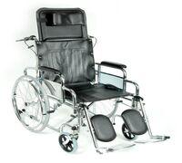 Механическая коляска серии FS модель 954 оснащена складной рамой из стали, съемными подлокотниками