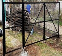 Ворота и калитки металлические  Каркас из профильной трубы 25*25 покрыты грунтовкой. В середине вор...
