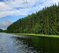 К продаже предлагается ровный, высоко расположенный над красивым озером, уютный земельный участок п...