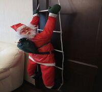 Качественные водонепроницаемые уличные фигуры Санта Клауса на веревке или светящейся лестнице украс...