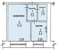   в г. Стрежевой Томской области, 2-мкр, дом 238, кв.22  Дом 1974 года постройки, построено из кирп...