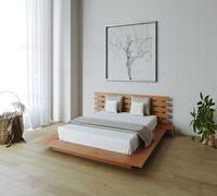 Двуспальные интерьерные кровати VIP-класса. Основа сделана из массива сосны. Создана в духе японски...
