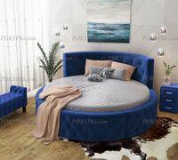 «Аркада» - шикарная круглая кровать из массива сосны с вместительным выкатным ящиком. Королевская кр...
